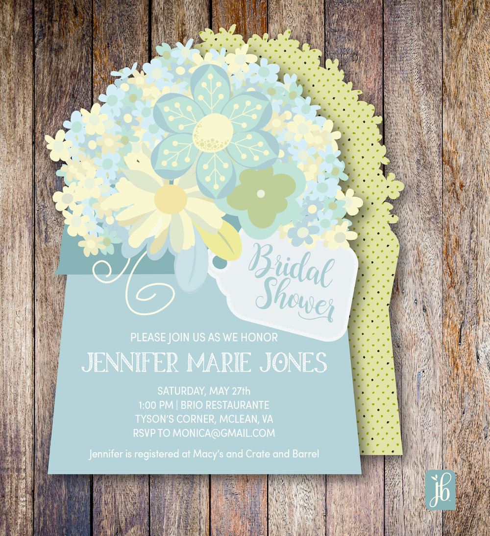 Soft Floral Custom Invitation