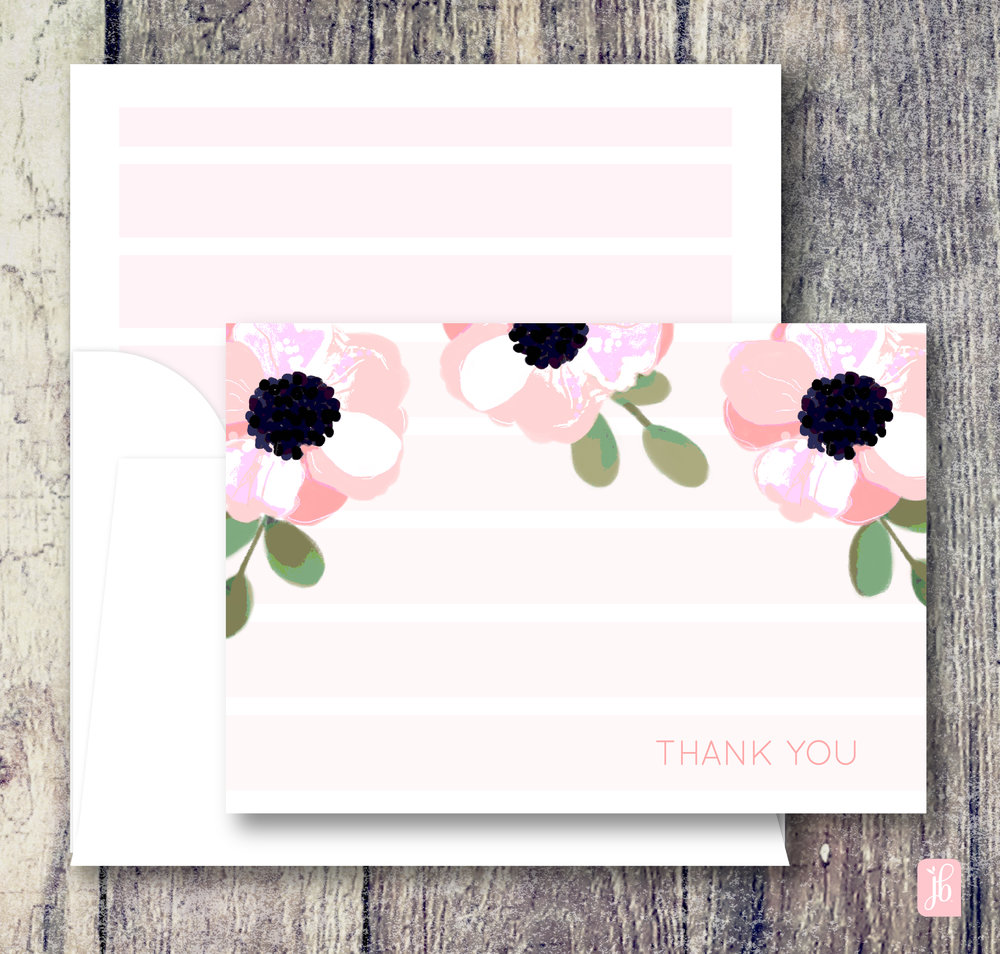 Three Poppies Note Card Set