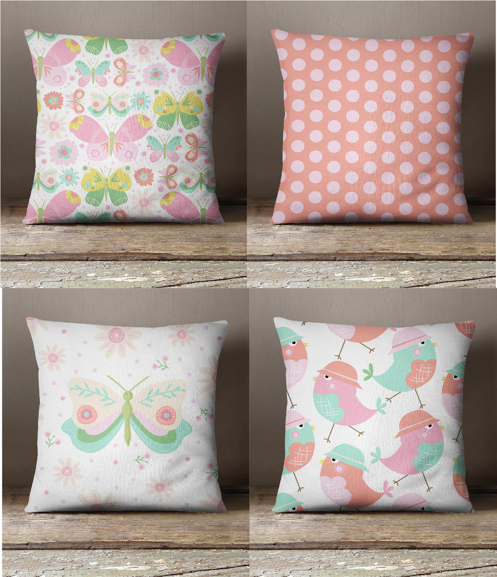 ButterflyGardenPillows