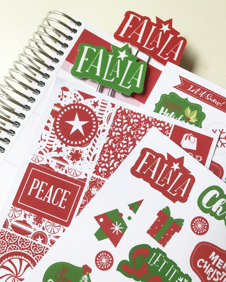 Christmas Planner Goodies