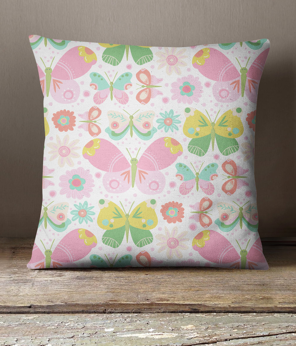 Butterfly Garden Pillow