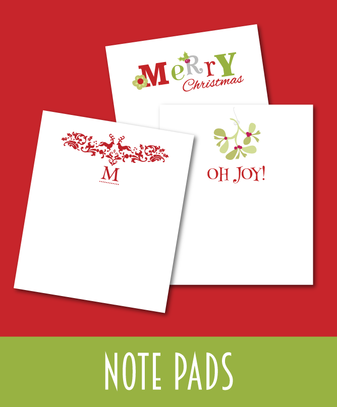 Christmas Note Pads