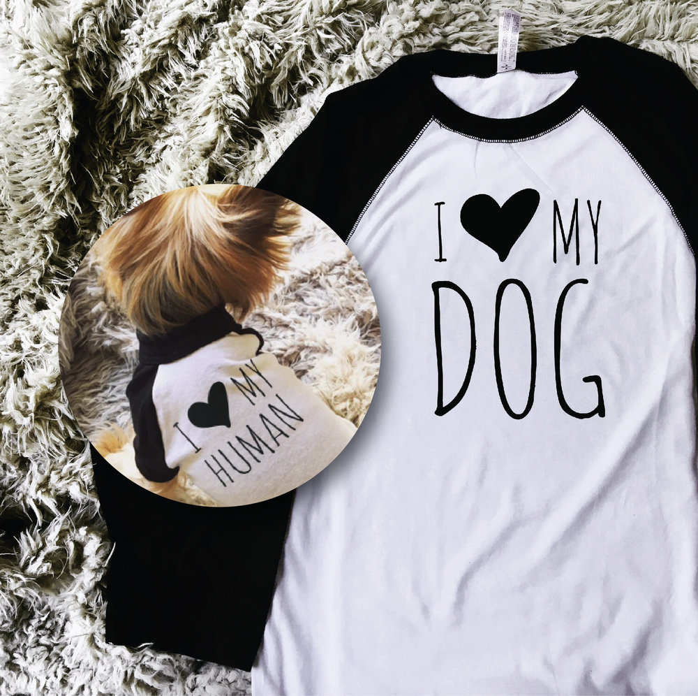 I Love My Dog Shirts