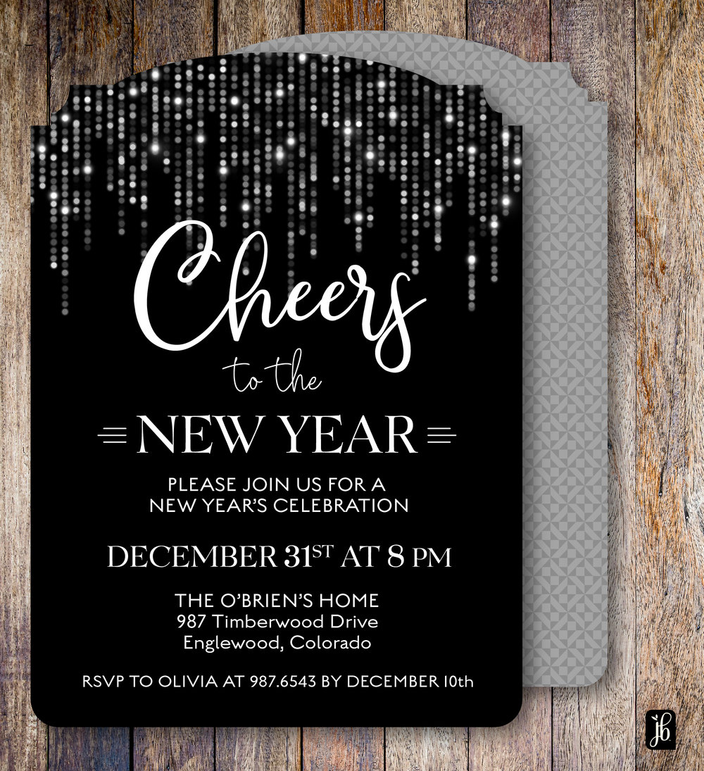 Cheer to the New Year Invite