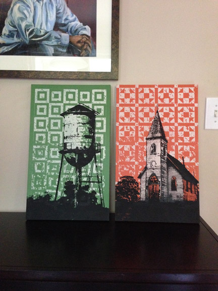 Landmark Series set Water Tower/Sanctuary available in the  JBarberStudio Store  for $175