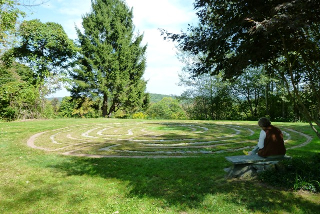 Labyrinth at Wisdom House retreat center