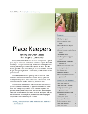 Download the  Place Keepers workbook  (PDF file*, 1.1mb)