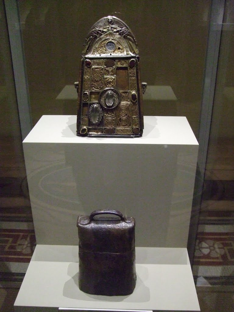 St. Patrick's bell and its shrine, National Museum, Dublin, by © Alan L.,  used under Creative Commons Attribution-Noncommercial-No Derivative Works license