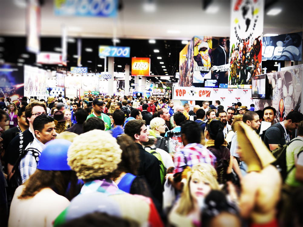 The SDCC convention floor