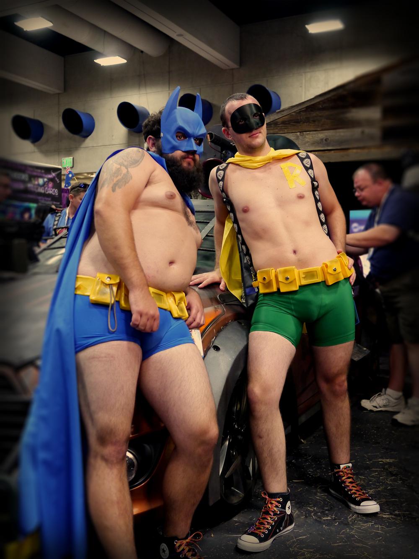 A casual Batman and Robin.