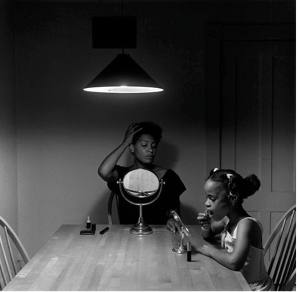 Carrie Mae Weems, Untitled (Woman and Daughter with Make Up), 1990, © Carrie Mae Weems  Courtesy of the artist and Jack Shainman Gallery, New York.