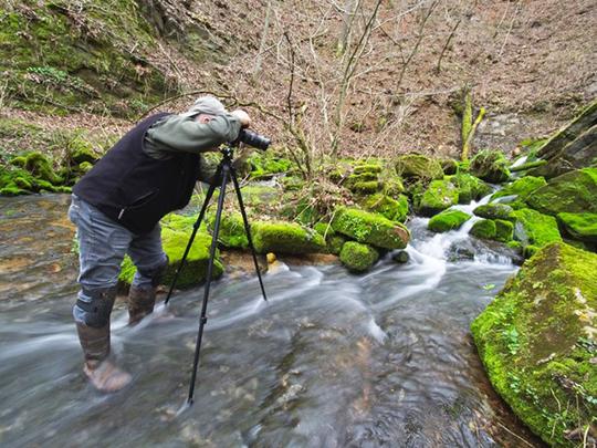 Bob shooting at Cave River (2).jpg