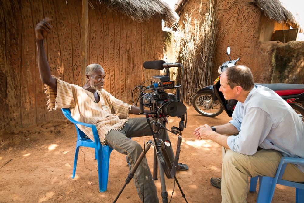 Hal interviews Lion Man in Mognori. He survived a lion attack a decade ago.