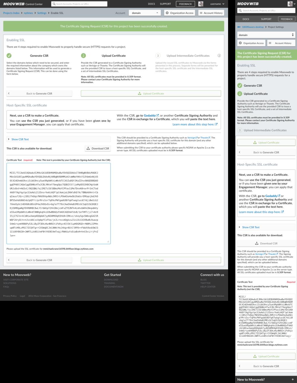 Upload Certificate - Hide Text - Valid