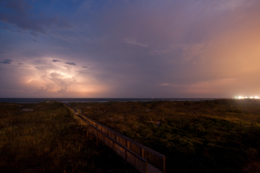 One night, there was an amazing lighting storm just off the coast.  Took a few photos then went and got creamed by Granny and Nate at euchre.