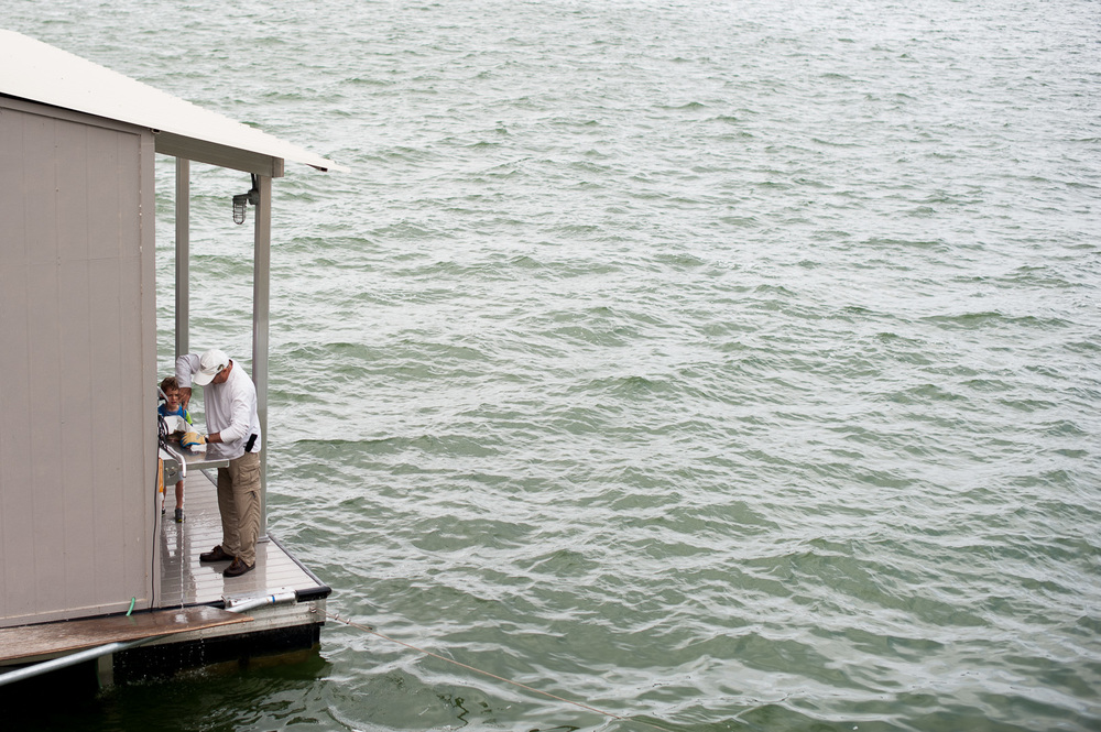 Rocket's vision of a fish-cleaning station on the dock? Complete.