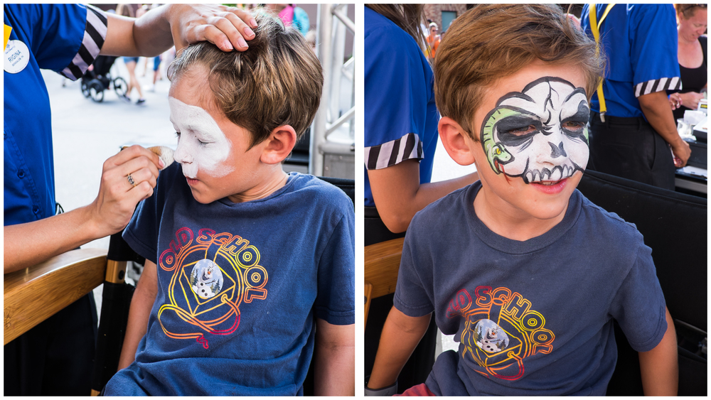 What an $18 face painting job looks like.