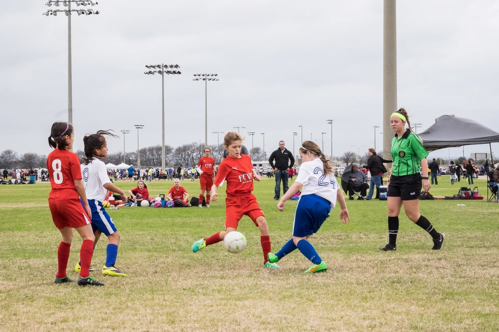 The Winter Blast 5v5 tournament came with some wonky rules for the girls to learn, but Ella got the chance to step outside of her usual defender position a bit and scored a whopping three goals in the final game of the day.