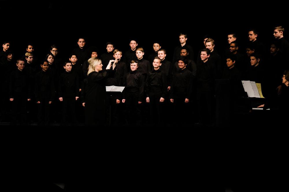Drew's last choir concert.