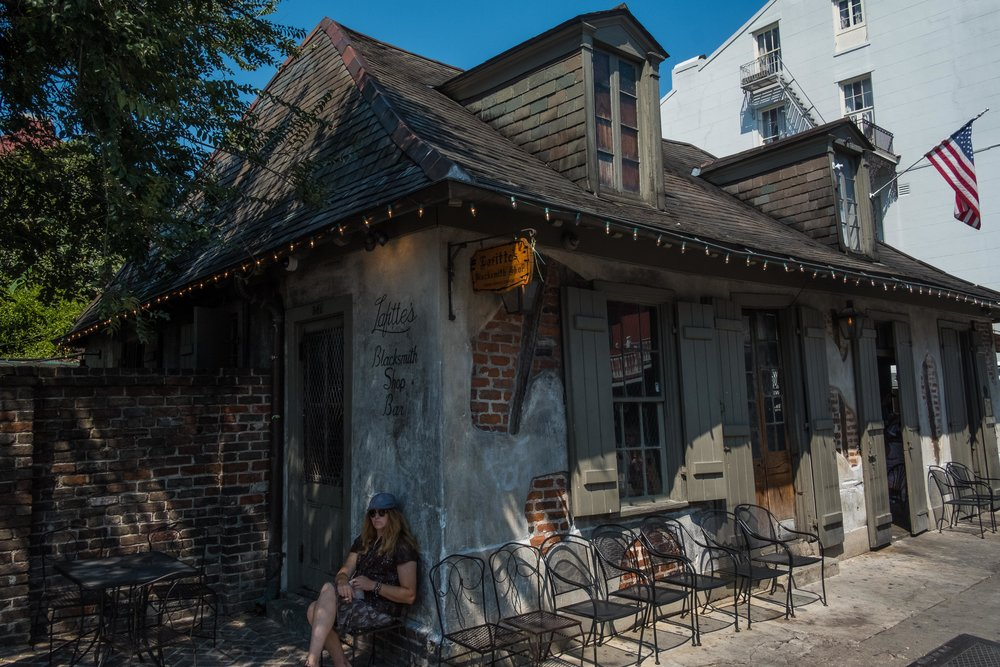 Lafitte's Blacksmith Shop, the oldest building in the U.S. housing a bar.