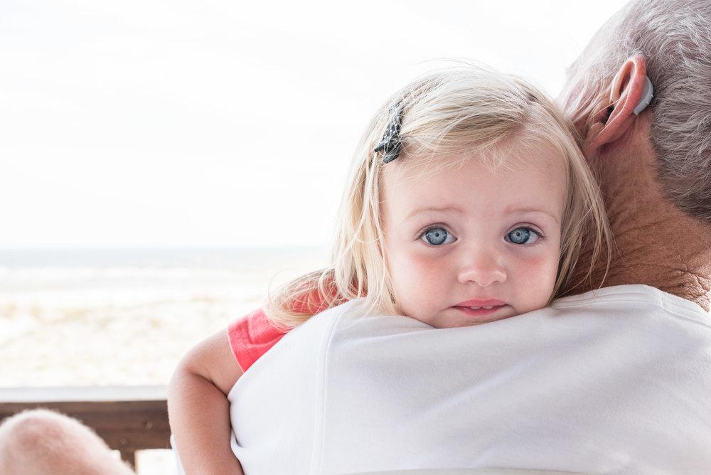 Jen-Jen sure loves her Poppa.