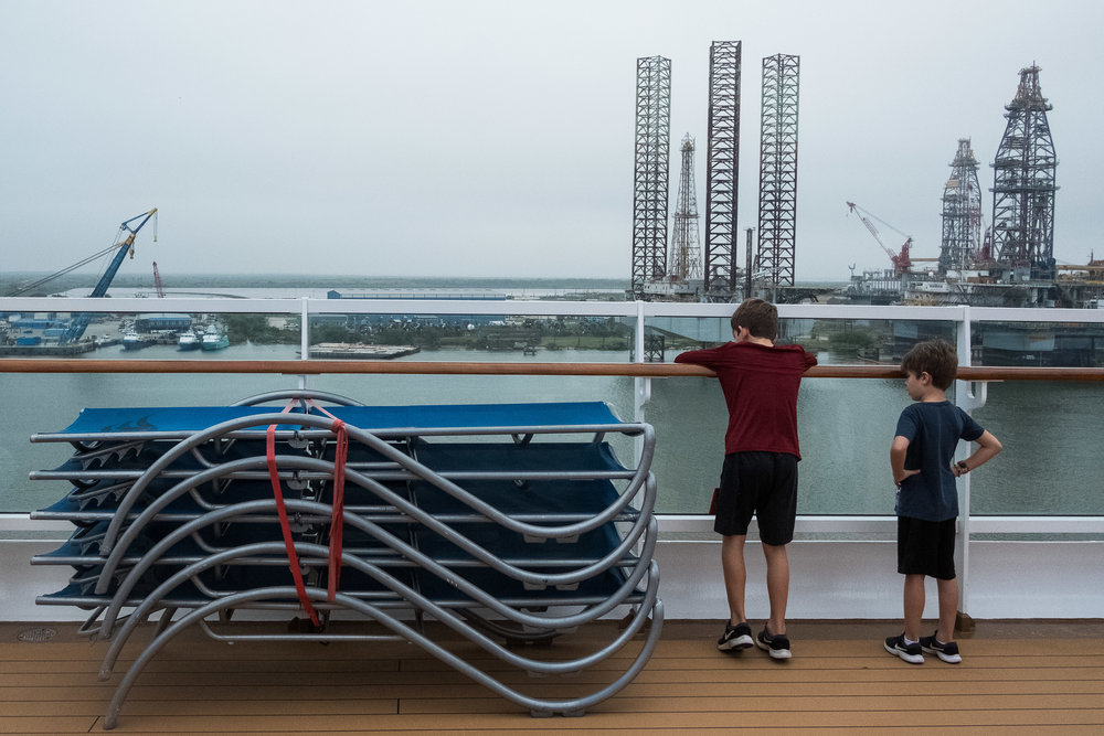 Checking out the Port of Galveston before we set sail.