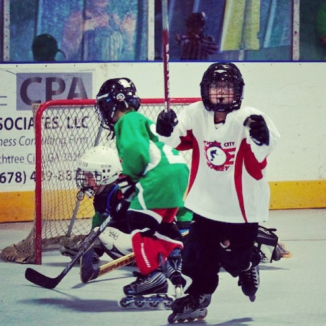 Mite You never forget that first goal #inlinehockey