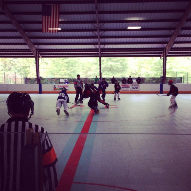 Peachtree City Hockey Midget Division Black vs Blue #inlinehockey