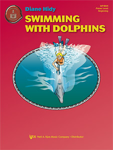 Swimming with Dolphins    Kids love the idea of dolphins, and the thought of swimming with them fascinates them. This charming original melody in middle C position is ideal for any  beginning student, includes lyrics and an optional teacher  duet.       I like to swim in the ocean, Feeling its watery motion. Sometimes my mammal friends join me; I like the dolphin the best.