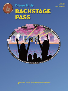 Backstage Pass    This Late Elementary piece sounds much harder than it is. It's a great piece for a student who wants a Rock and Roll kind of sound. I even had a  10-year-old girl play it with her rock band!