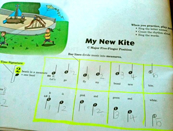 My New Kite from  Piano Town Primer