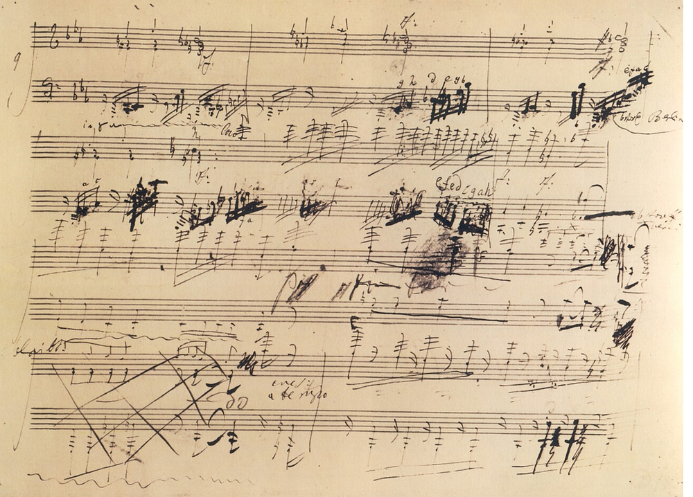 Beethoven Piano Sonata, Opus 111, excerpt from original score