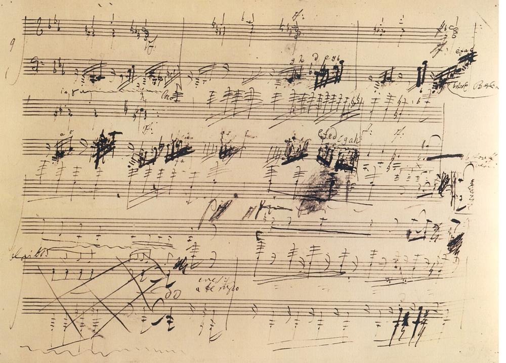 Beethoven Piano Sonata, Opus 111, excerpt from original score