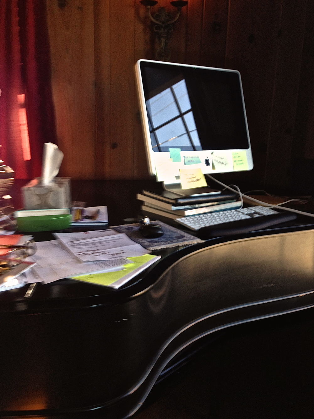 Steinway turned stand-up desk