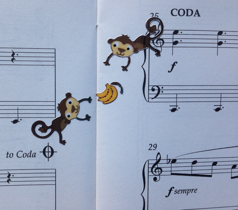 """Skipping to the Coda"" might become monkeys throwing bananas. In Groovy Movie from Elissa Milne's fabulous  Little Peppers  book."
