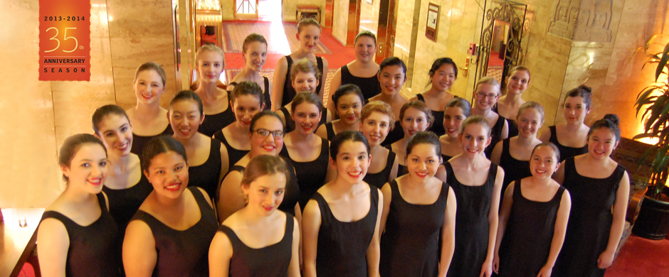 Chorissima - the highest level of the San Francisco Girls Chorus. Evie is in the back row.