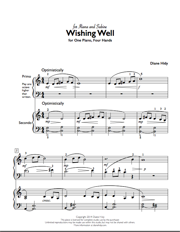 Here's my new duet for late elementary students. Click on the image to take a look and listen!