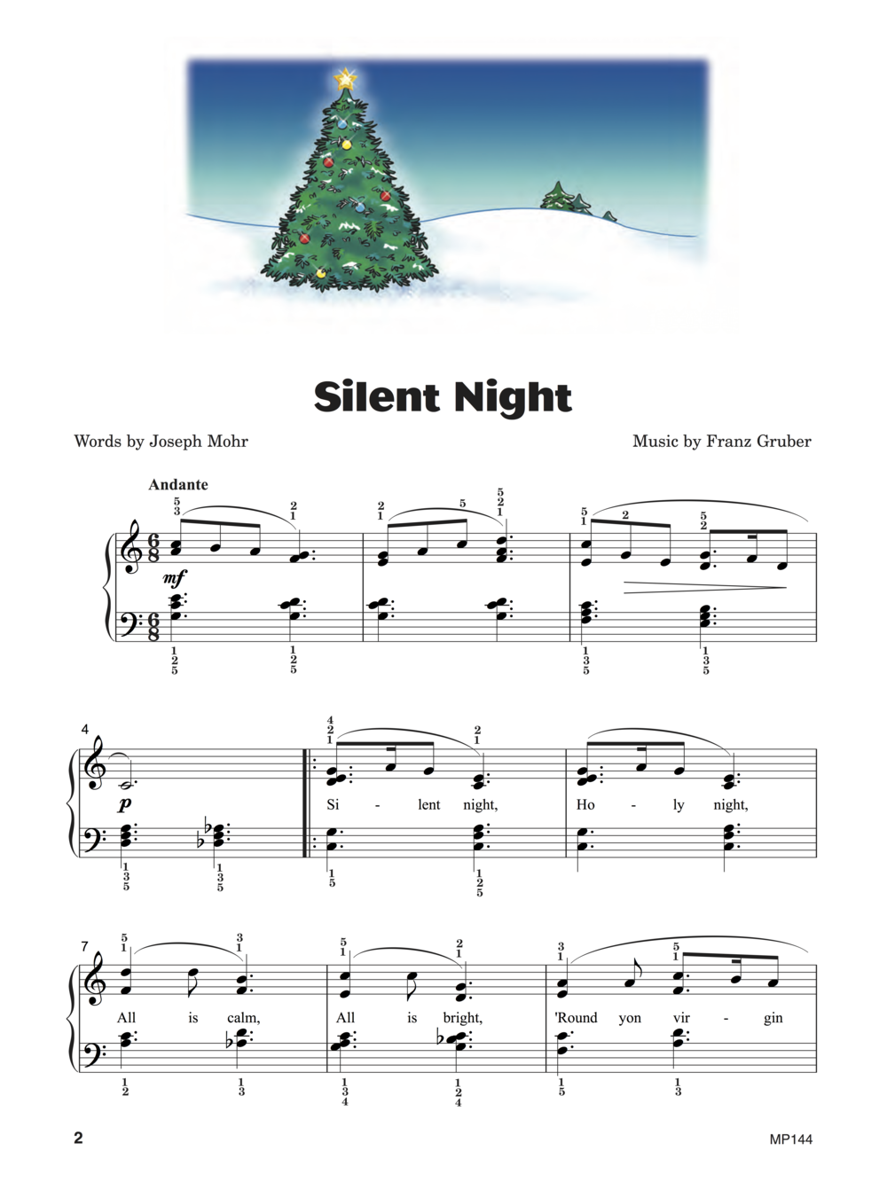 Silent Night  from  Keith Snell & Diane Hidy's Piano Town Christmas Level Four