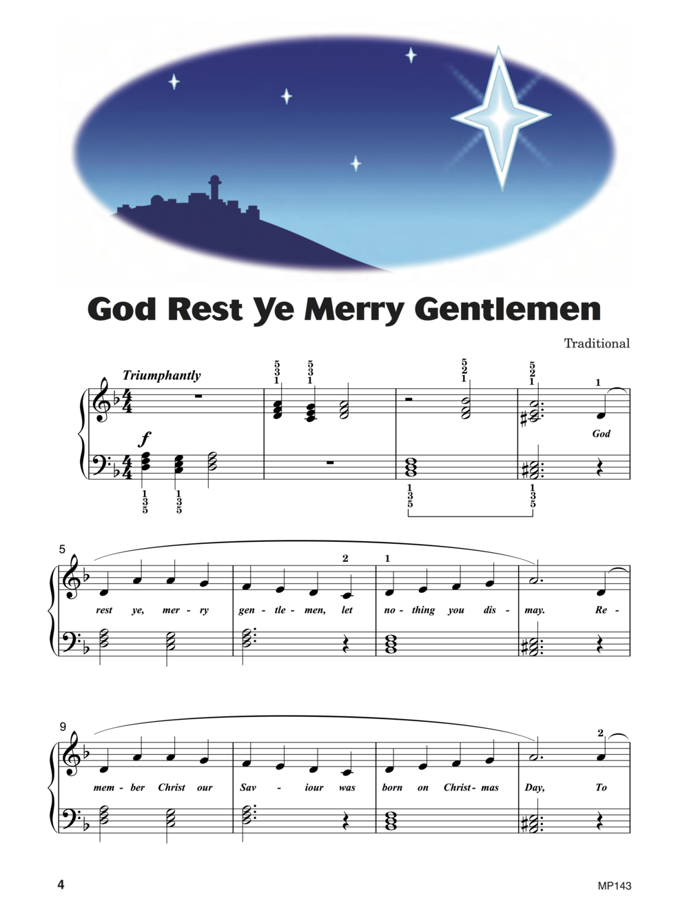 God Rest Ye Merry Gentlemen  from  Keith Snell & Diane Hidy's Level 3 Piano Town Christmas