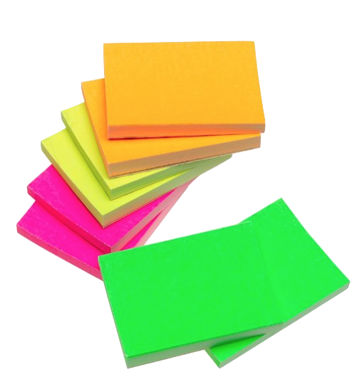 I can't teach without post-its. It would be impossible. I use them in every lesson with every student. This size, 1 3/8 X 1 7/8 inches is the most important one to have. Start with these. It's worth it to buy them in bright colors. You'll find it useful to be able to use the colors. Besides, the small yellow post-its are boring.