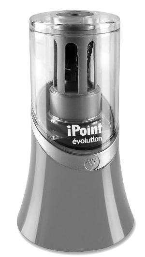 This  iPoint Electric Pencil Sharpener  is near me on my teaching table so I can keep all my pencils sharp.