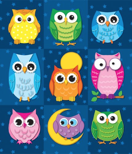 My students like these owl stickers. I think it's because the colors are so bright. There are a LOT of stickers in this pack. I'm still on my first set and I use them often.