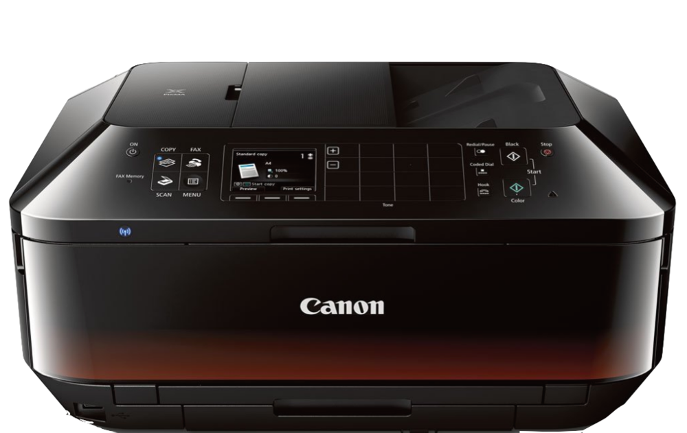 This Canon Pixma is the printer I have and love. It does everything: Wireless printing from my computer as well as copying, scanning and faxing. It's compact and my favorite thing is that the ink cartridges are easy to replace. I fought with my old printer all the time trying to cram the cartridges in and it drove me crazy. This one is a dream.