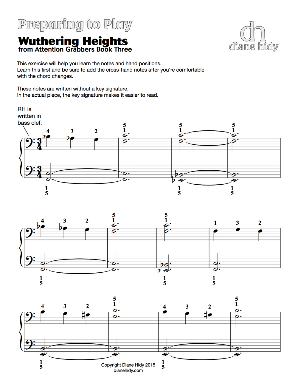 "Download FREE ""Preparing to Play"" pages  to help you teach each piece in the latest Attention Grabber Book. Use these pages to prepare your students and make teaching these new pieces easier for yourself as well!"