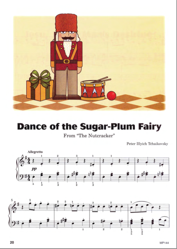 Dance of the Sugar-Plum Fairy from Piano Christmas Level Four.