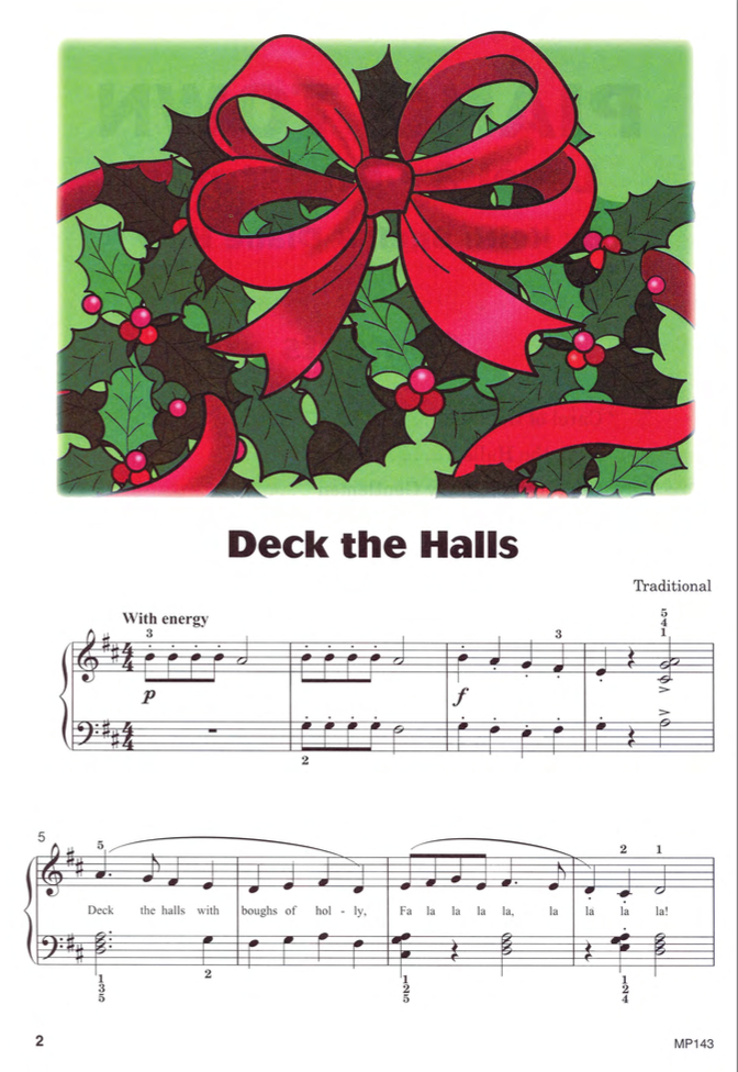 Deck the Halls from Piano Town Christmas Level Three.