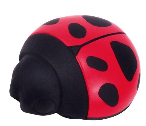 Ladybug Squeeze  toys are just the right size to help shape pianist's hand to a healthy position.
