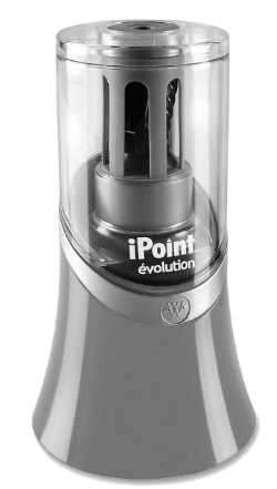 This  iPoint Electric Pencil Sharpener  is near me on my teaching table so I can keep my pencils sharp.