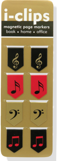 These  Musical Magnetic Page Markers  are lovely.
