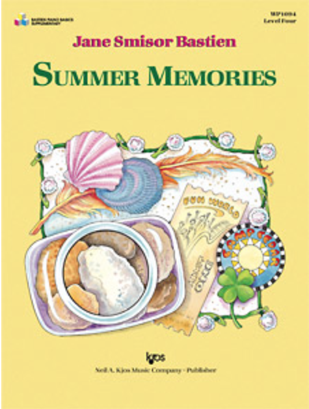 Summer Memories  by Jane Bastien is an intermediate piece with a singing melody. Left hand accompaniment opens to a tenth but requires no solid octave playing.